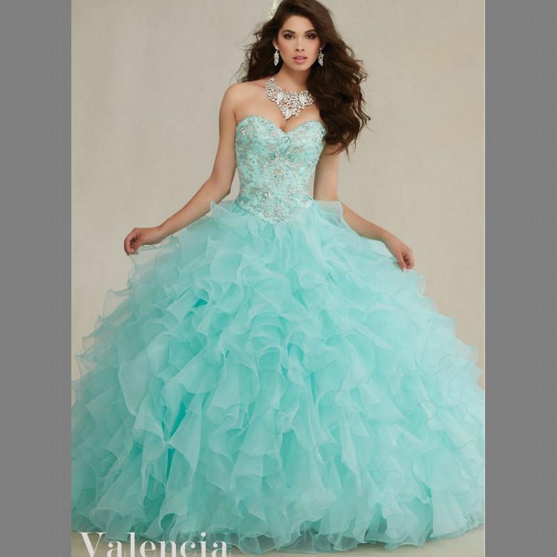 Aqua Dresses delicate embroidery bodice aqua quinceanera dresses 2016 beading sweetheart  ruffles organza sweet 16 dress IPTFYVN