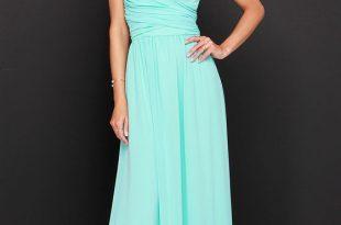 Aqua Dresses royal engagement strapless aqua maxi dress MOEYMDM