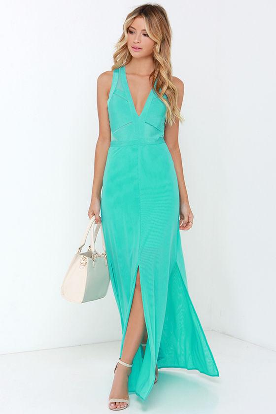 Aqua Dresses snap out of it aqua maxi dress GGUXSKL