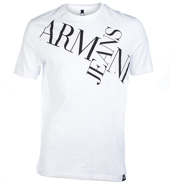 Armani T shirts armani jeans abstract logo print t-shirt ... WCLYQJN