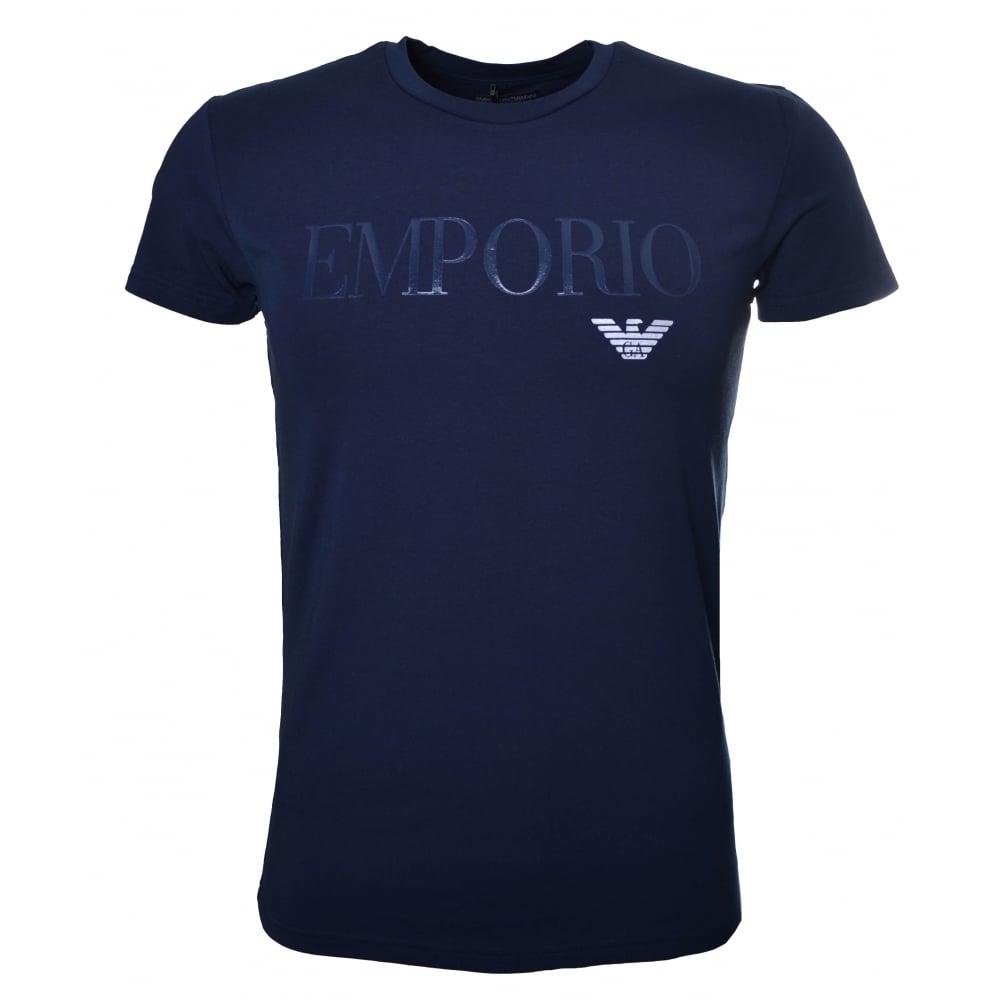 Armani T shirts emporio armani menu0026#039;s navy blue ... ZAJZLCP