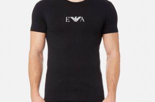 Armani T shirts emporio armani menu0027s 2 pack cotton stretch crew neck t-shirt - nero: image YYQNMJC
