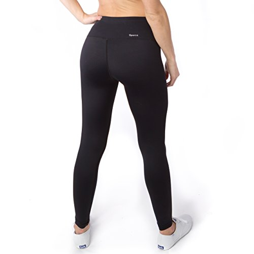 Athletic Leggings sport it womenu0027s yoga pants, workout running leggings with pockets and  tummy control, black GPWUPIV