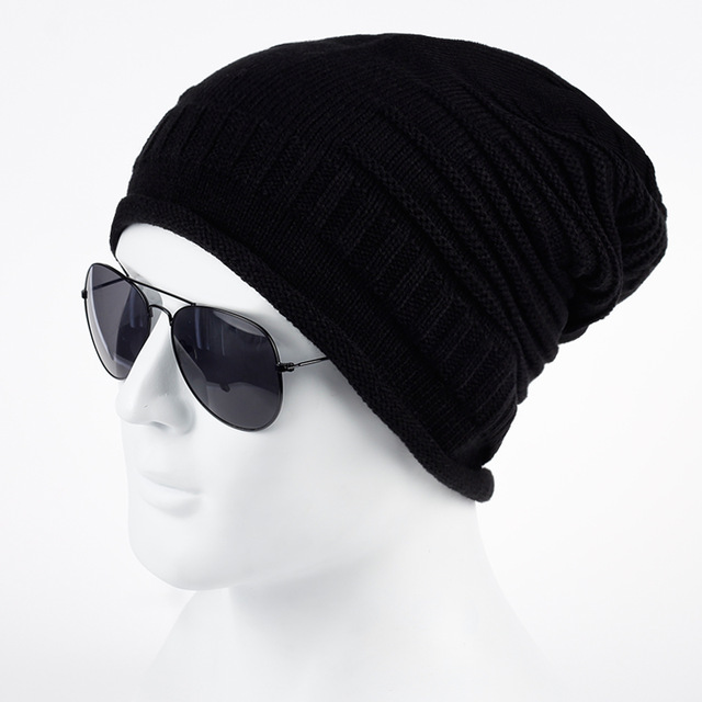 autumn winter cap men beanie caps boys winter hats for man knitted beanies  hat TJFWKHR