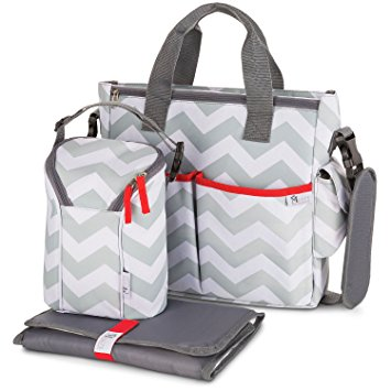 Baby Bag baby diaper bag for girls u0026 boys - 3 in 1 compact diaper weekender tote PGOXGGC