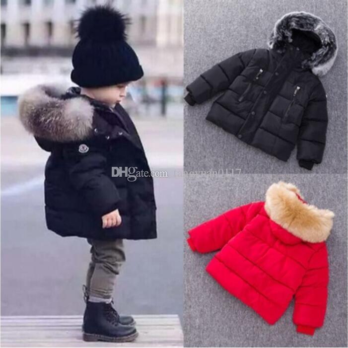 baby boy coats baby boys girls winter coat thick coat padded winter jacket big fur collar  hooded XEBSWWO
