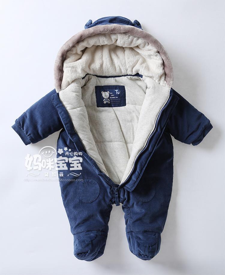 baby boy coats baby clothing winter thickening baby boy wadded jacket newborn romper  thermal clothing cartoon outerwear AGWDEWM