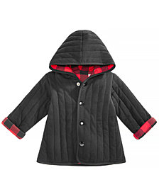 baby boy coats first impressions baby boys buffalo plaid reversible cotton jacket, created  for macyu0027s FJKUAKR