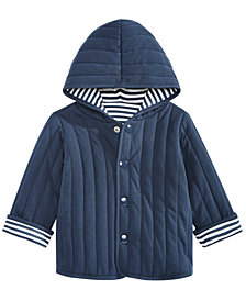 baby boy coats first impressions baby boys reversible striped cotton jacket, created for  macyu0027s SIPSJSL