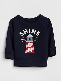 baby boy coats graphic crewneck sweatshirt RNFEXPE