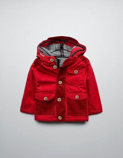 baby boy coats three quarter length coat with detachable sheepskin lining - coats - baby  boy (3-36 QWXCPRE