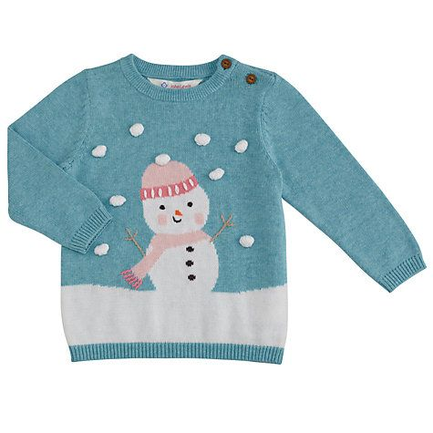 baby Christmas jumper buy john lewis baby 3d snowman christmas jumper, blue online at  johnlewis.com DAPLWWO