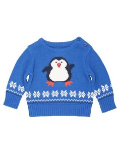 baby Christmas jumper m kids penguin intarsia knit christmas jumper NPUUOZC