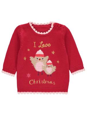 baby Christmas jumper robin christmas jumper   baby   george ROQJEMU