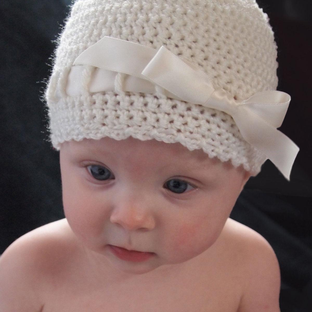 baby crochet hats baby crochet hat, newborn ballerina hat, ivory - baby grace CHDJVVM