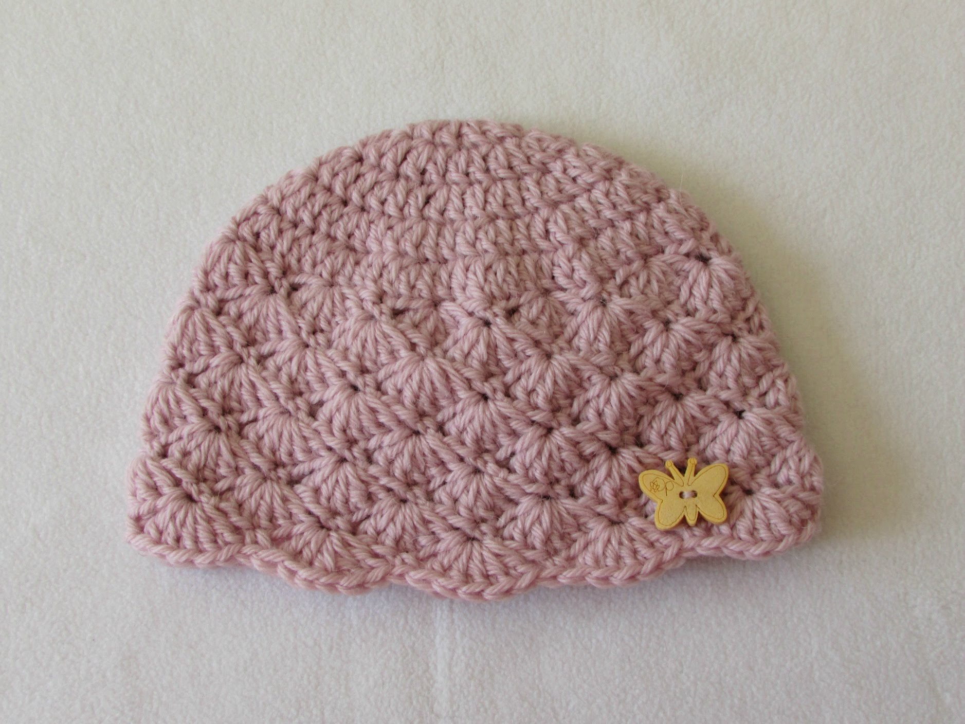 baby crochet hats how to crochet a cute baby girlu0027s hat for beginners CFUGBMS