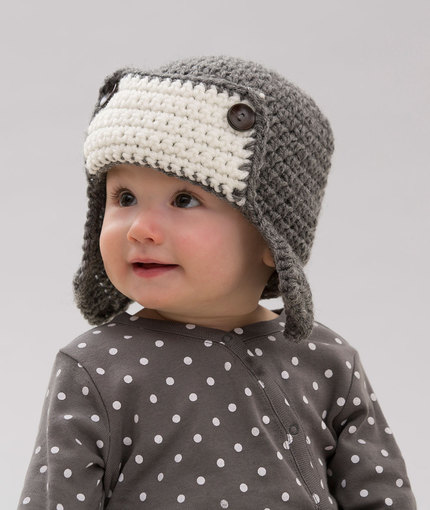 baby crochet hats little lindyu0027s aviator hat SECGBFT