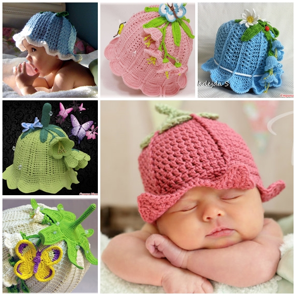 baby crochet hats wonderful diy adorable crochet baby bluebell hat FSJBLQV