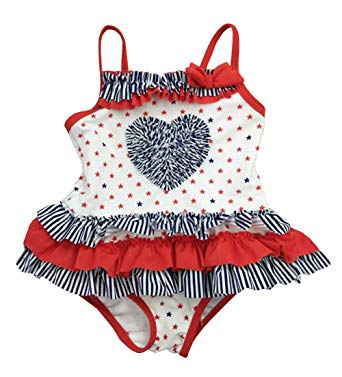baby girl swimsuits amazon.com: infant baby girls swimwear 4th of july one piece heart swimsuit:  clothing UFDDAWJ
