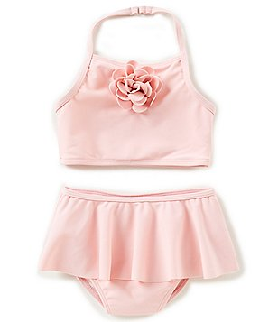 baby girl swimsuits kate spade new york baby girls 12-24 months tankini top u0026 ruffle bottom  swimsuit ZEGJSPH