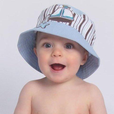 baby sun hats ... baby blue sail boat baby sun hat ... SYIXPRX