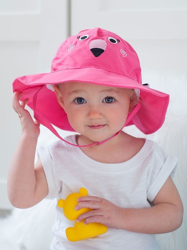 baby sun hats baby sun hat - flamingo FBRXZXW