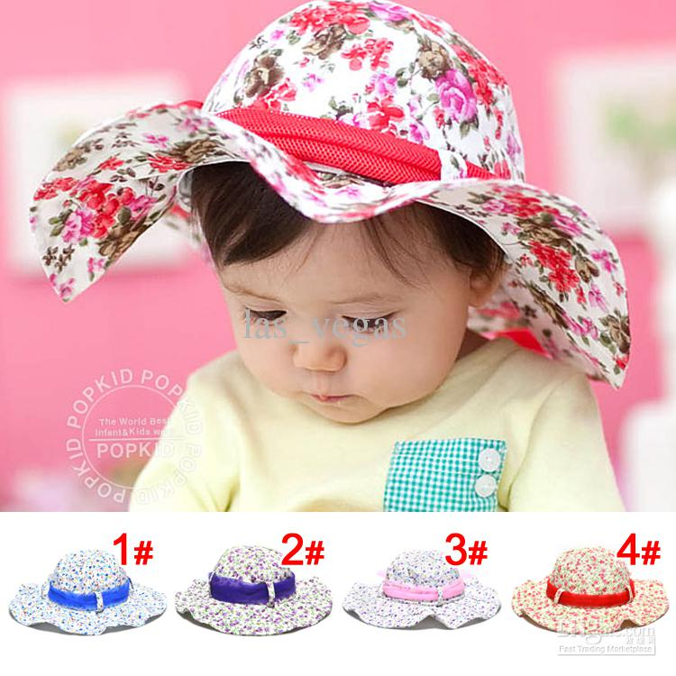 baby sun hats baby sun hat infant flower cap toddler summer wear hats 4colours baby sun  hat YGBBWMR