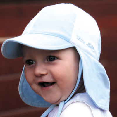 baby sun hats sun hat - baby hat - soft baby legionnaires - blue/white upf50+ excellent  protection ITUVIZE