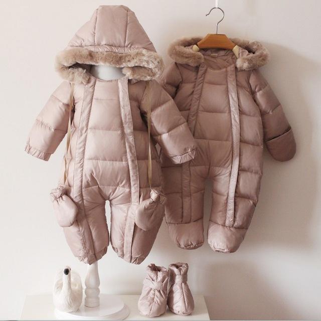 baby winter coats 2017 infant baby winter jackets fashion newborn infant boy snowsuit 90%  duck down coats QJKSJQZ