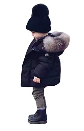 baby winter coats kids baby boys winter warm puffer hooded coats thicken down windproof jacket  size 1-2years VSVBPPV
