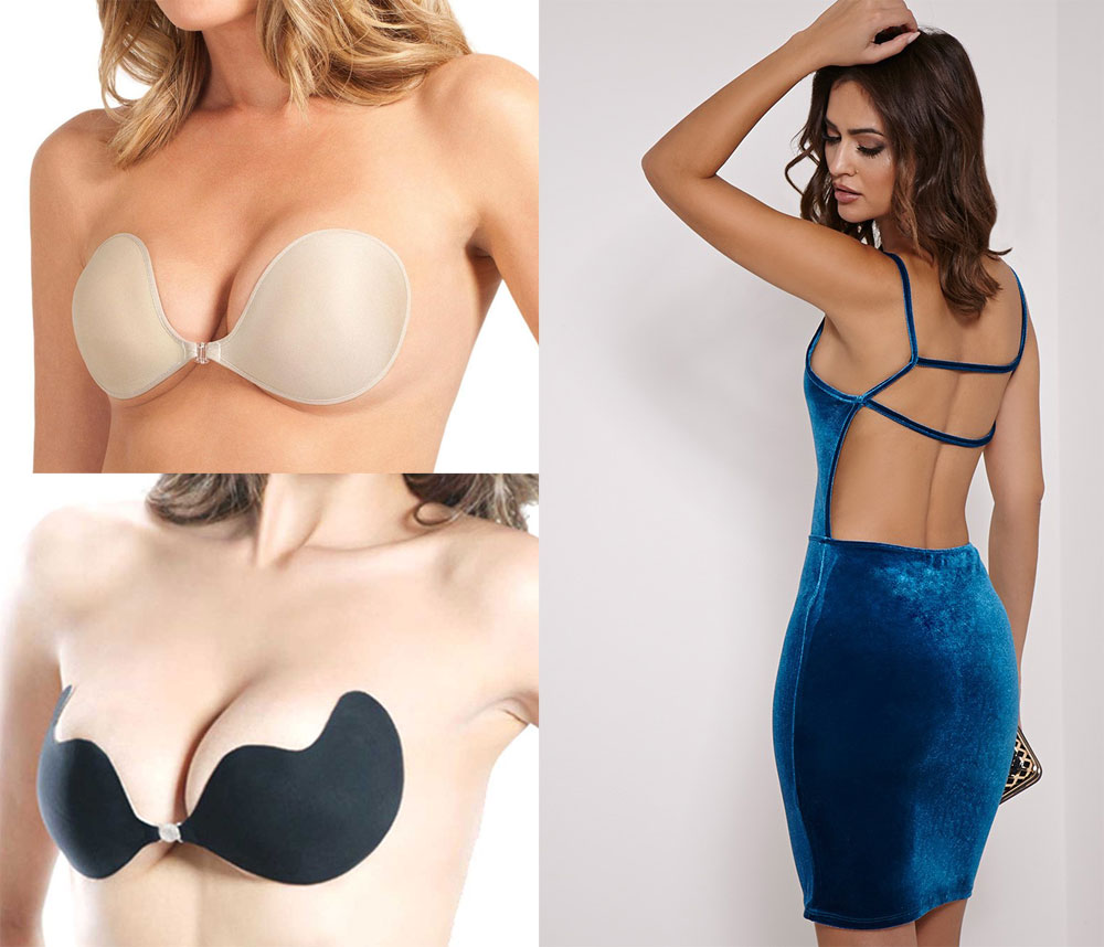 backless dress bra backless dress and adhesive bra set UAILFMX
