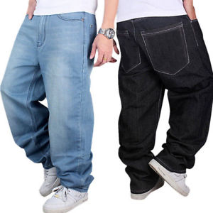 baggy jeans image is loading mens-jeans-relaxed-fit-baggy-loose-denim-hip- QMGRPMZ