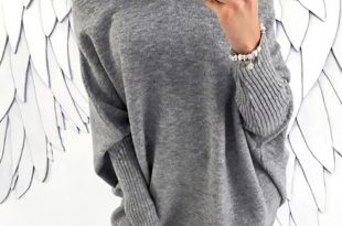 baggy sweaters stylish long sleeve solid baggy sweater dress - boutiquefeel KUFRDHP