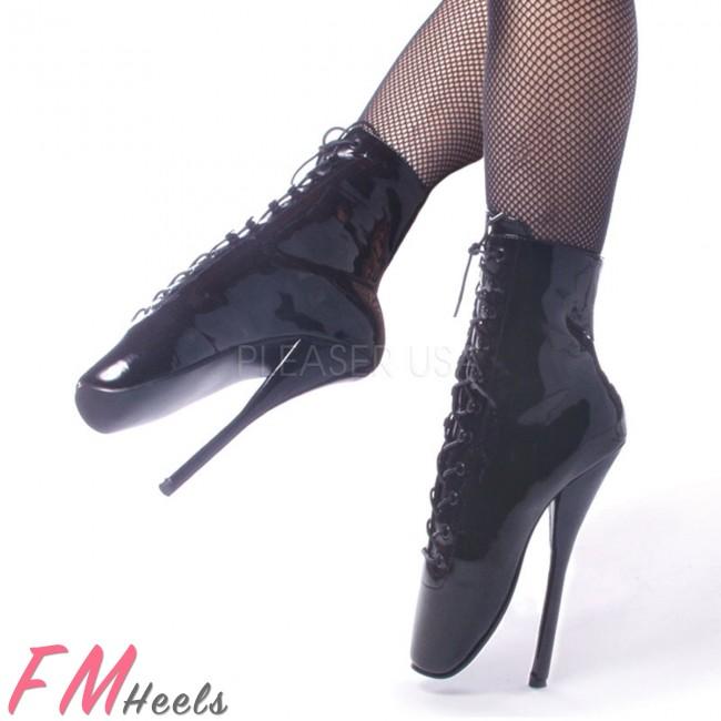 Ballet Heels devious ballet 1020 black patent ballet boots ELDIJFN