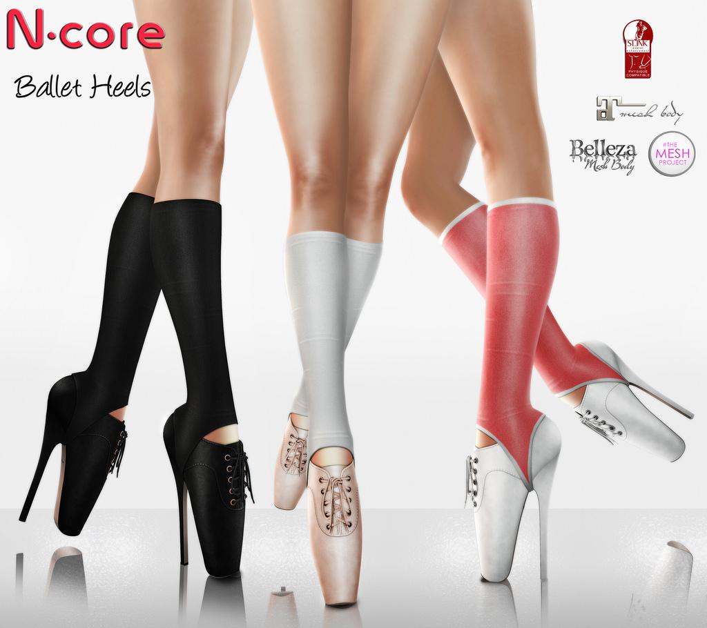 Ballet Heels ... n-core ballet heels | by nuria augapfel NHXOYFE