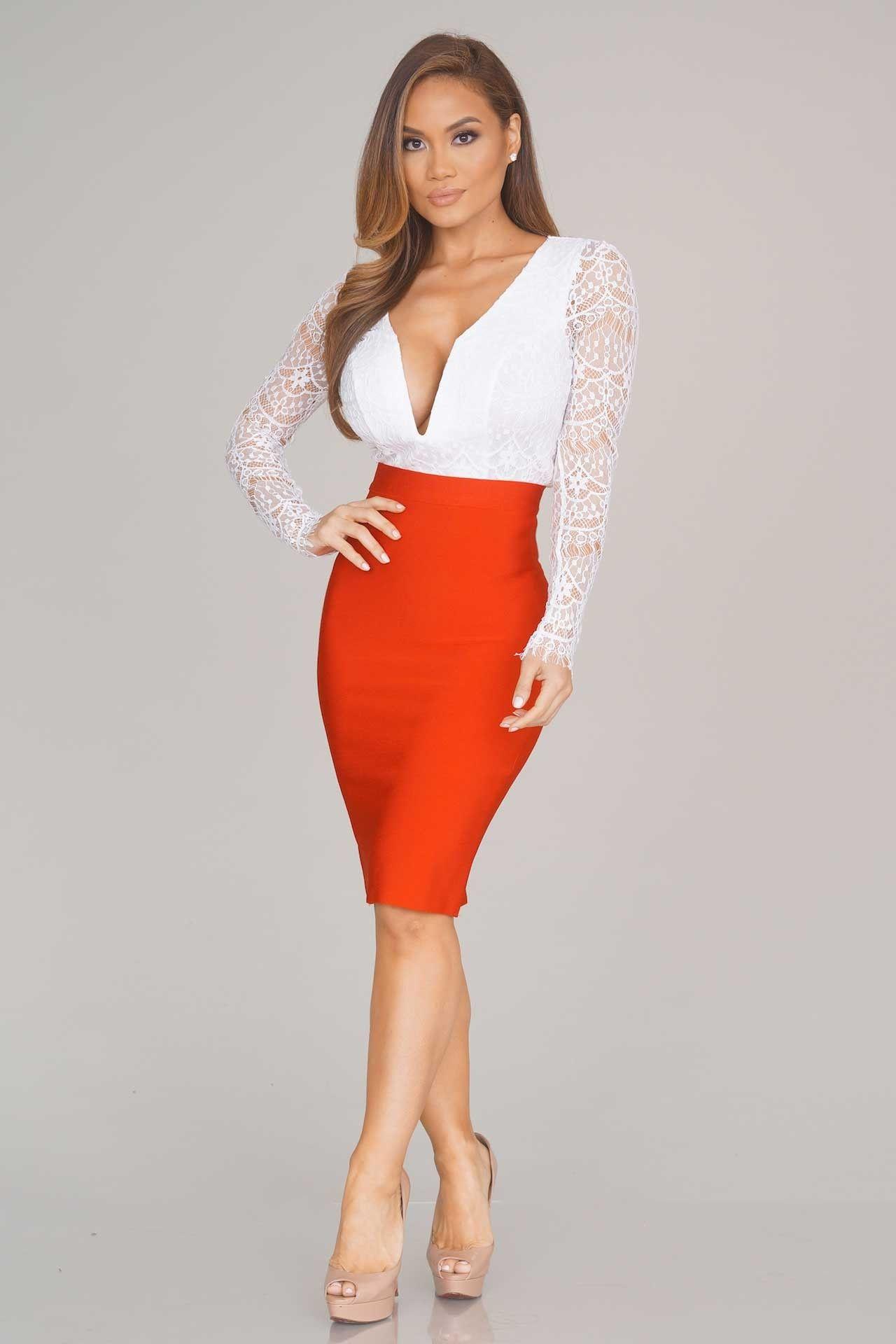 bandage skirts charlize bandage skirt - red - bottoms - clothing TKBIAPI