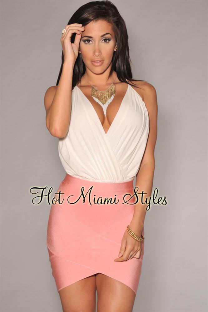 bandage skirts pink bandage arched mini skirt VDJKTQK