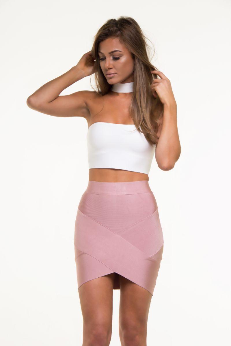 bandage skirts rose mini bandage skirt ... MAPISJC