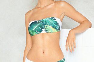 Bandeau Bikinis plant beat it bandeau bikini top YVNARIL