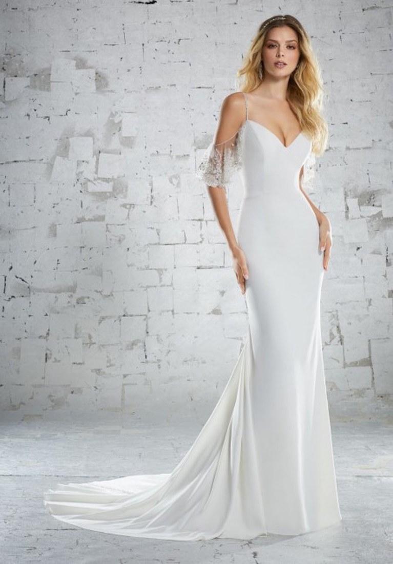 beach wedding dress mori lee 6851 maybelle wedding dress SEQBSYM