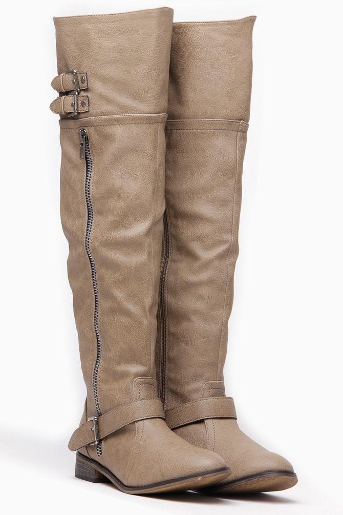 beige boots knee high wonderlust rider boots RLMGOGC