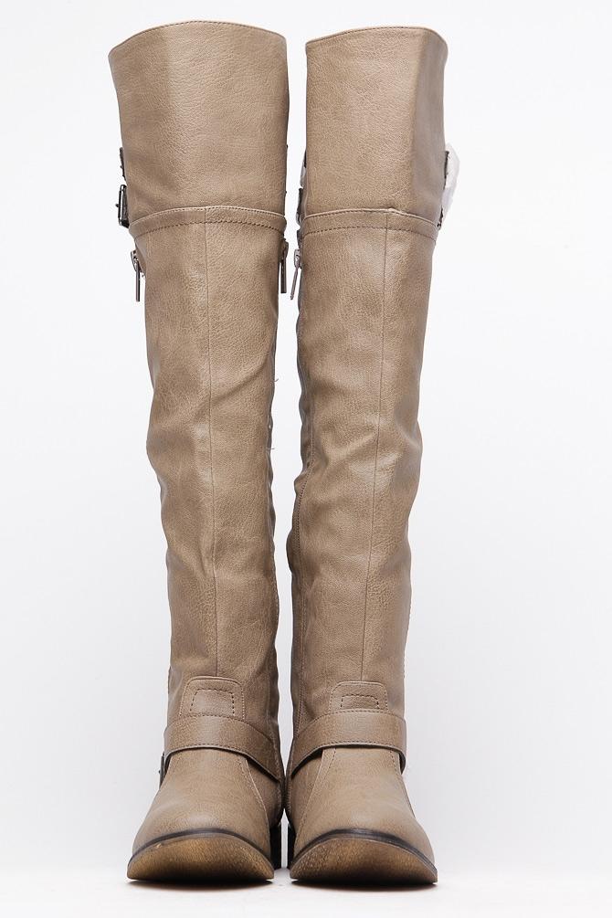 beige boots save GZOUBUA