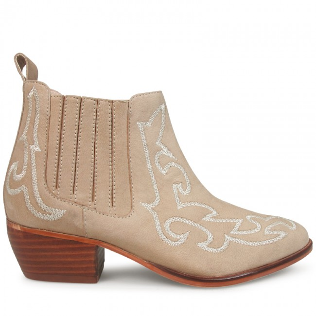 beige boots wittner grayson embroidered boot beige leather KKZJCSY