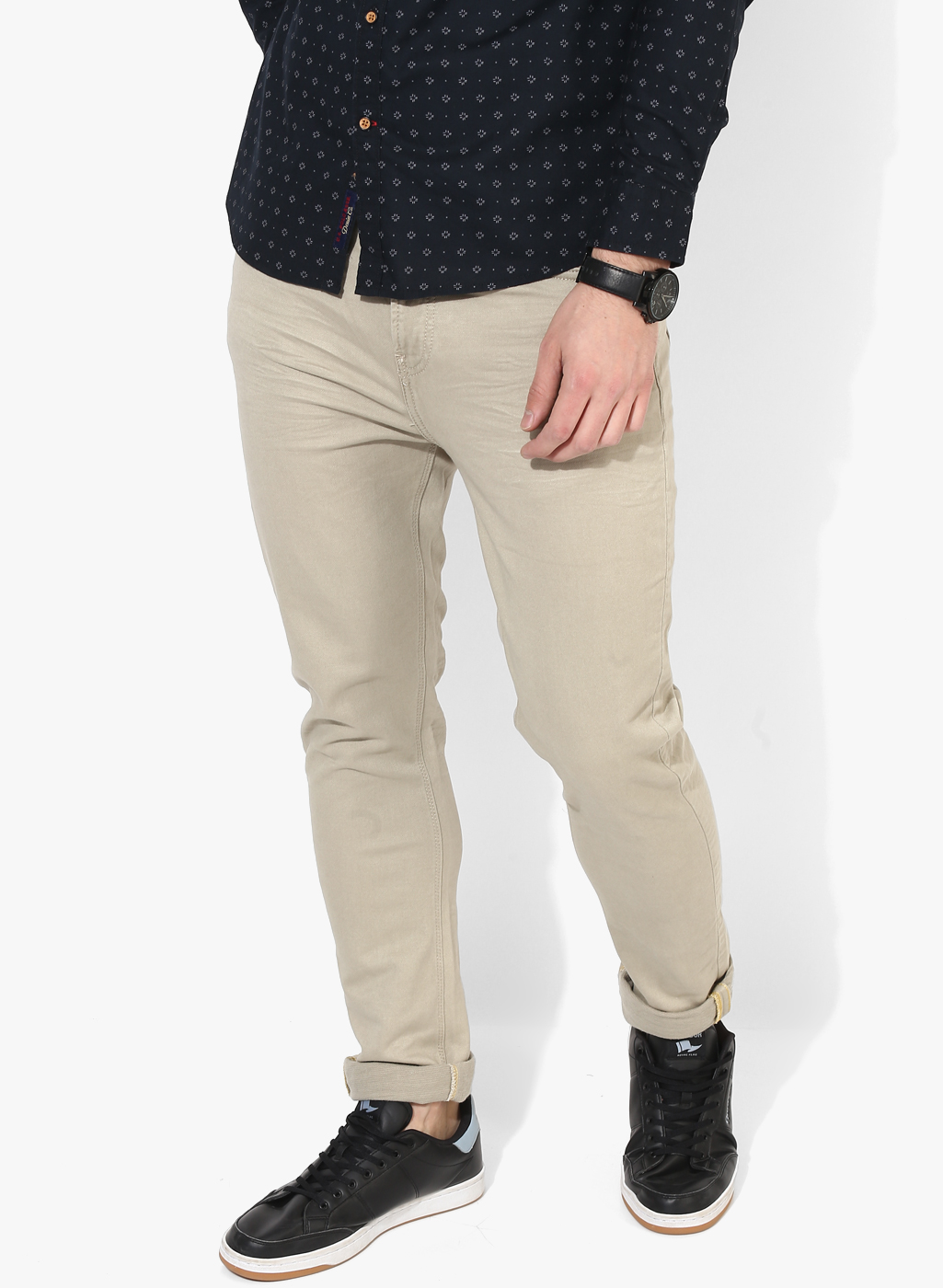 Beige Jeans buy united colors of benetton beige solid low rise slim fit jeans for men CBYIMRM