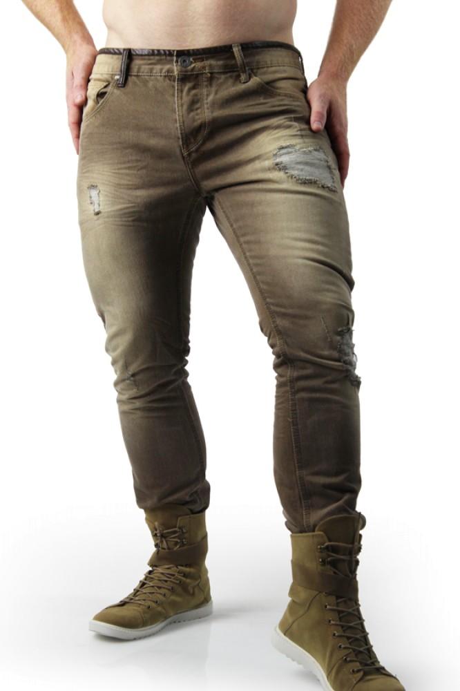 Beige Jeans distressed beige jeans RRKAOPD
