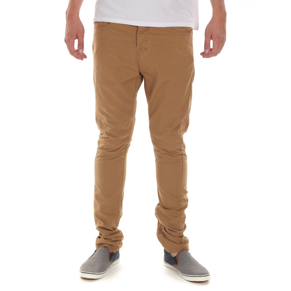 Beige Jeans industrialize mens beige coldcut slim fit twill jeans UMQQEDW
