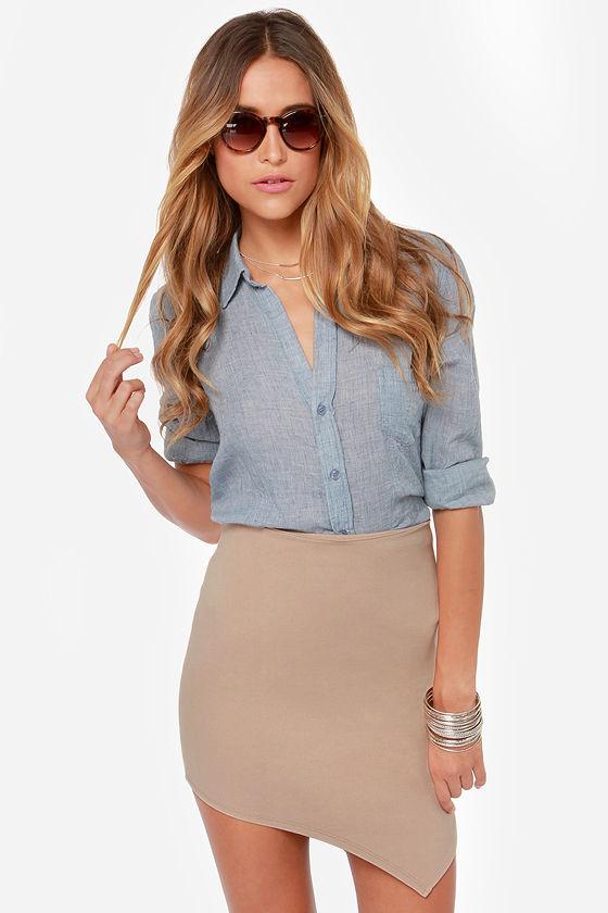 Beige Skirts breaking point asymmetrical beige skirt UJRSZRF
