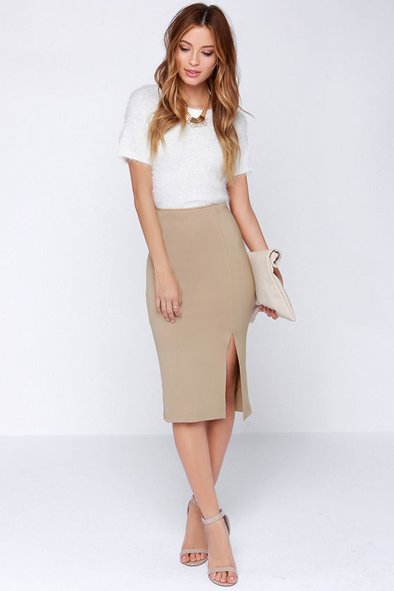 Give Your Feet a Stylish Look with Beige Skirts