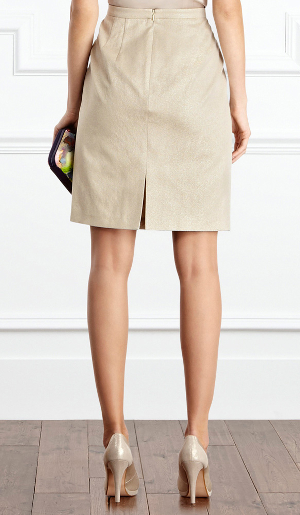 Beige Skirts pencil skirt with front pleats, custom handmade, fully lined, wide choices  of fabric colors LOACIRT