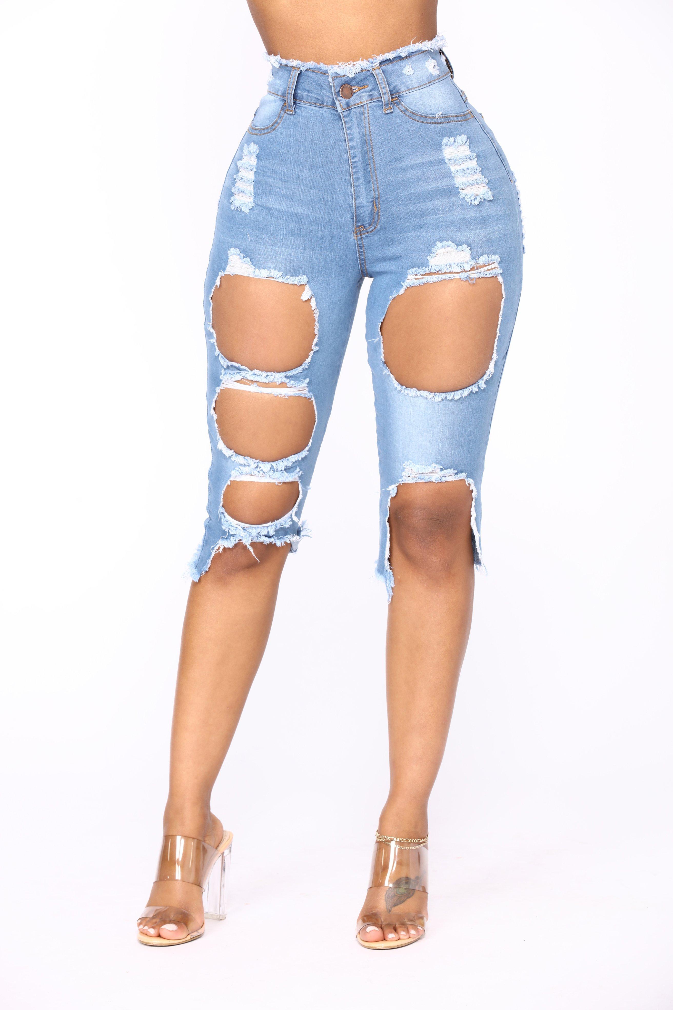 Bermuda Shorts canu0027t help it bermuda shorts - light blue wash DRIAZSK